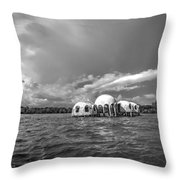 Cape Romano Bw Throw Pillow