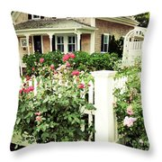 Cape Roses Throw Pillow