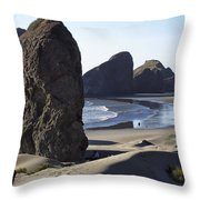 Cape Sebastian - Hunters Cove Area- Oregon Coast Throw Pillow