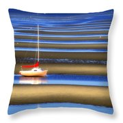 Cape Tidal Flats Throw Pillow