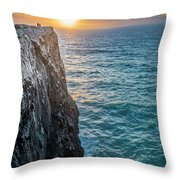 Cape Vincent, Portugal Throw Pillow