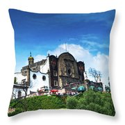 Capilla Del Cerrito - Basilica De Guadalupe - Mexico City Throw Pillow
