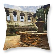 Capistrano Fountain Throw Pillow