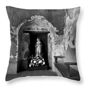 Capistrano Mission Statue Throw Pillow