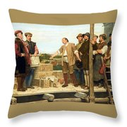 Capital And Labour Throw Pillow