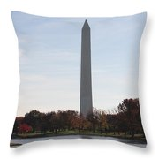 Capital Autumns - The Washington Monument In The Fall Throw Pillow