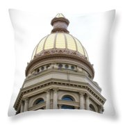 Capital Building Dome Cheyenne Wyoming Vertical 01 Throw Pillow