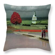 Capital Fields Throw Pillow