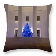 Capital In Blue Throw Pillow