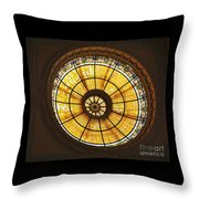 Capital One Bank Building Dome Throw Pillow