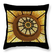 Capital One Bank Dome Close Up Throw Pillow