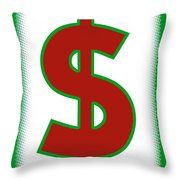 Capitalist Dollar Throw Pillow