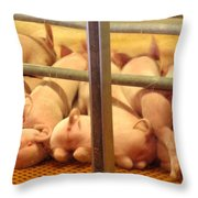 Capitalist Swine Throw Pillow