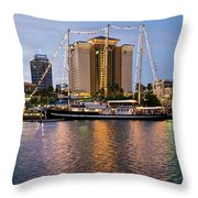Capitan Miranda In Tampa Throw Pillow