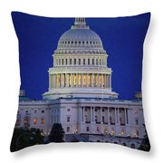 Capitol At Dusk Throw Pillow