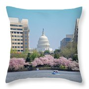Capitol Blossoms Throw Pillow