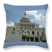 Capitol Building Throw Pillow