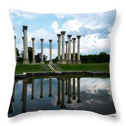 Capitol Columns, National Arboretum Throw Pillow