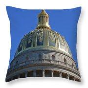 Capitol Dome Charleston Wv Throw Pillow