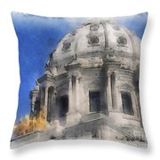 Capitol Dome St Paul Minnesota Throw Pillow