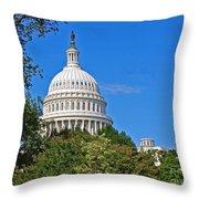 Capitol Gains Throw Pillow