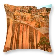 Capitol Gorge Desert Varnish Throw Pillow
