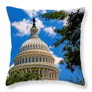 Capitol Of The United States Throw Pillow