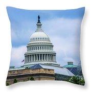 Capitol Over The Botanical Garden Throw Pillow
