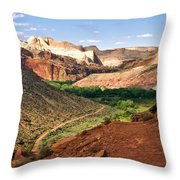 Capitol Reef 8 Throw Pillow