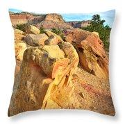 Capitol Reef Boulder Art Throw Pillow