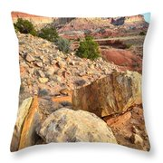 Capitol Reef Boulders Throw Pillow