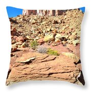 Capitol Reef Castle Throw Pillow