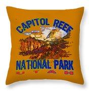 Capitol Reef National Park Utah Throw Pillow