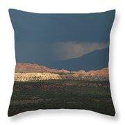 Capitol Reef Storm 0050 Throw Pillow
