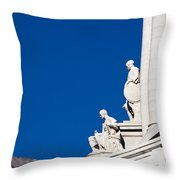Capitol Statues - Madison Wisconsin-1 Throw Pillow