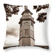 Capitol Time - Sepia Throw Pillow