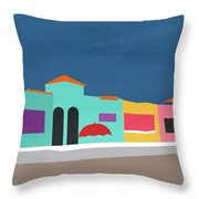 Capitola Venetian- Art By Linda Woods Throw Pillow