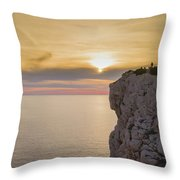 Capo Caccia's Cliff Throw Pillow