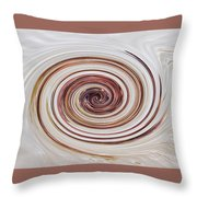 Cappucchino Whip Throw Pillow