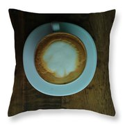 Cappuccino In A Cup Throw Pillow