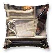 Cappuccino In Milan Throw Pillow