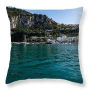 Capri Island Silky Smooth Emerald And Aquamarine Throw Pillow