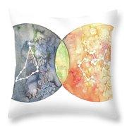 Capricorn Sagittarius Throw Pillow
