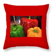 Capsicum In The Wash Throw Pillow