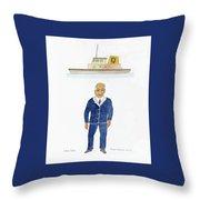 Capt. Don Throw Pillow