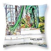 Capt. Redd Throw Pillow