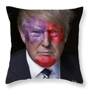 Captain America Throw Pillow by Kira Yan