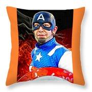 Captain America Super Hero Throw Pillow