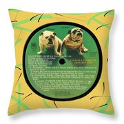 Captain And Tennille Greatest Hits Lp Label Throw Pillow