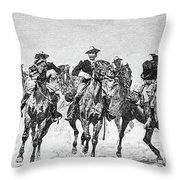 Captain Dodge's Troopers To The Rescue Throw Pillow